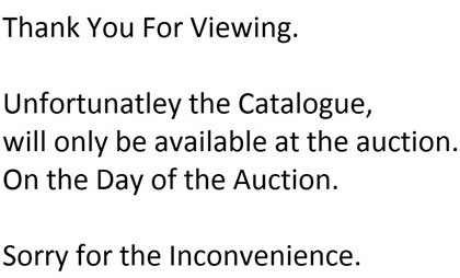 Catalogue Will be Available on Day of Auction